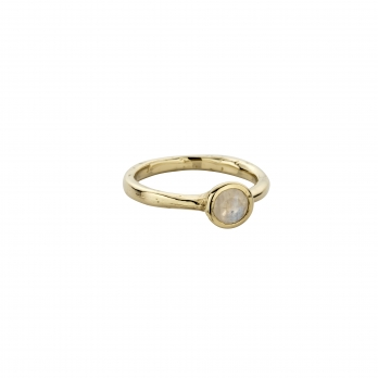 Gold Moonstone Baby Stone Ring