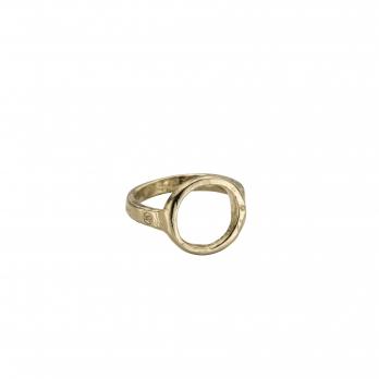Gold Open Circle Ring