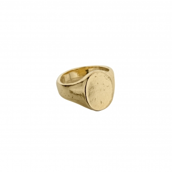 Gold Oval Signet Ring