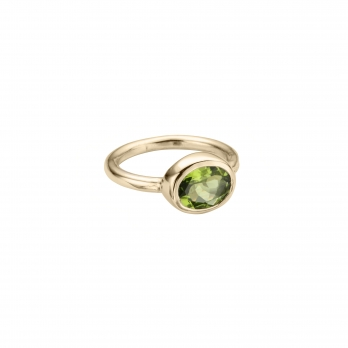 Gold Peridot Baby Treasure Ring