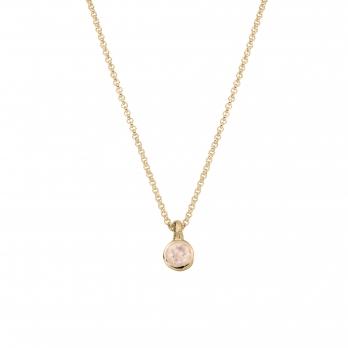 Gold Rose Quartz Baby Treasure Necklace