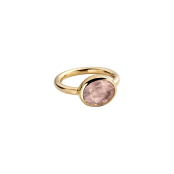 Gold Rose Quartz Baby Treasure Ring