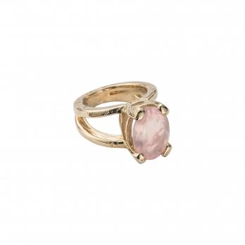 Gold Rose Quartz Maxi Claw Ring