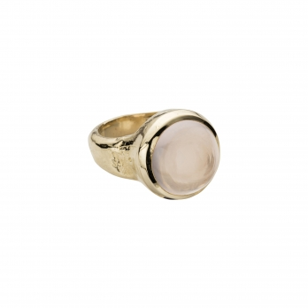 Gold Rose Quartz Mood Ring