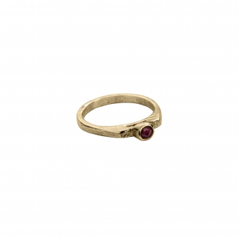 Gold Ruby Promise Ring