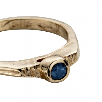 Gold Sapphire Promise Ring detailed