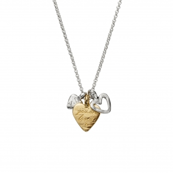Silver & Gold A Lot Of Love Necklace