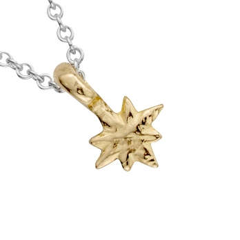 Silver & Gold Baby North Star Necklace detailed