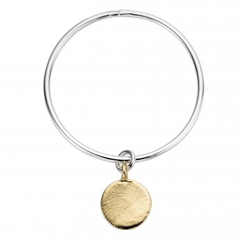 Silver & Gold Large Moon Bangle