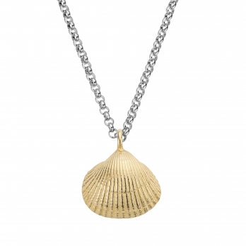 Silver & Gold Maxi Shell Necklace