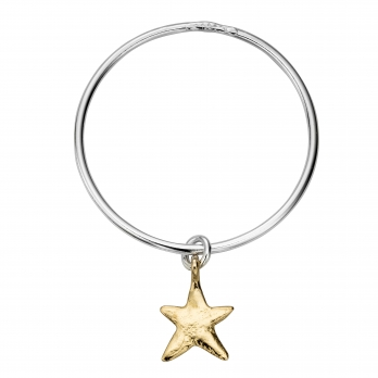 Silver & Gold Maxi Star Bangle
