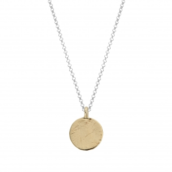 Silver & Gold Large Moon Necklace
