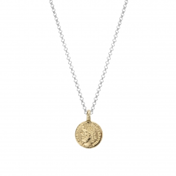 Silver & Gold Medium Roman Coin Necklace