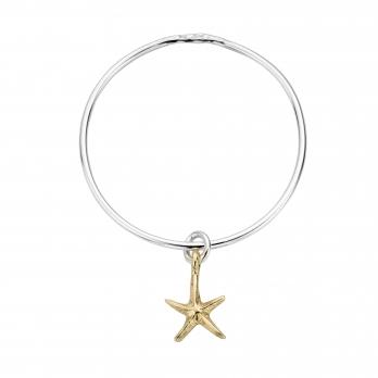 Silver & Gold Medium Starfish Bangle