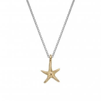 Silver & Gold Medium Starfish Necklace