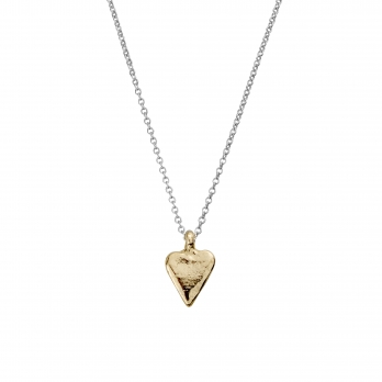 Silver & Gold Mini Heart Necklace