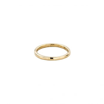 Gold Simple Wedding Band