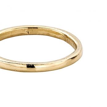 Simple Gold Wedding Band detailed