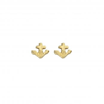 Gold Tiny Anchor Ear Charm Set