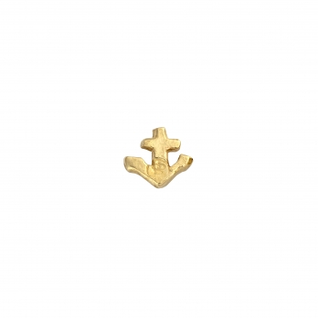 Gold Tiny Anchor Single Ear Charm