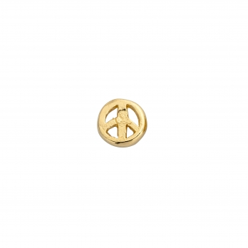 Gold Tiny Peace Single Ear Charm