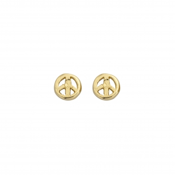 Gold Tiny Peace Ear Charm Set