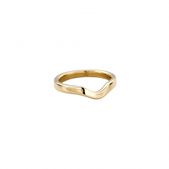 Ladies Gold Wave Wedding Band