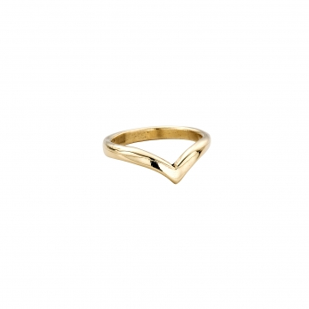 Ladies Gold Wishbone Wedding Band