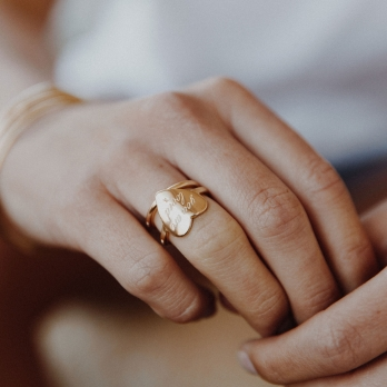 Gold You Are Loved Ring detailed