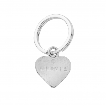 Silver Heart Dog Tag