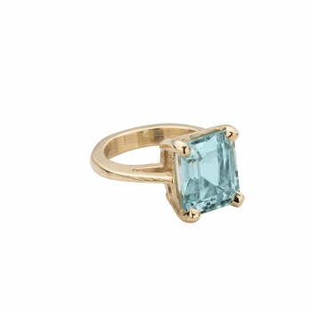 HEBE Aquamarine Gold Ring