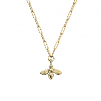 Gold Honey Bee Trace Chain Necklace