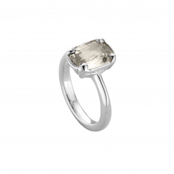 KAKALINA Silver Sapphire Ring detailed