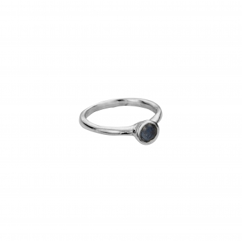 Silver Labradorite Baby Stone Ring