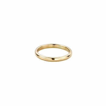 Ladies Gold Arch Wedding Band