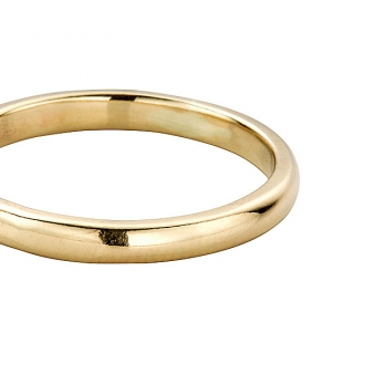 Gold Ladies Arch Wedding Band detailed