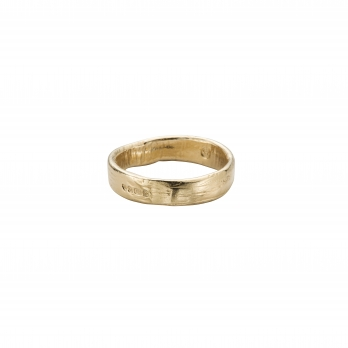 Ladies Gold Midi Posey Ring