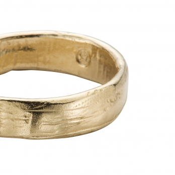 Ladies Gold Midi Posey Ring detailed