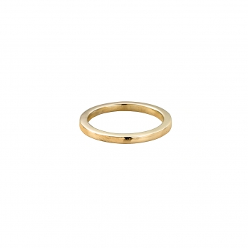 Ladies Gold Square Wedding Band