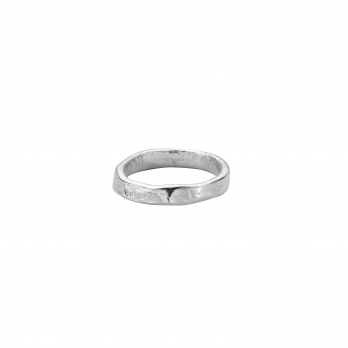 Ladies Silver Midi Posey Ring