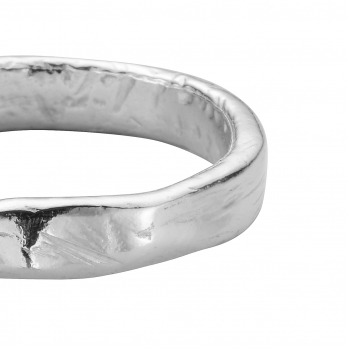 Ladies Silver Midi Posey Ring detailed