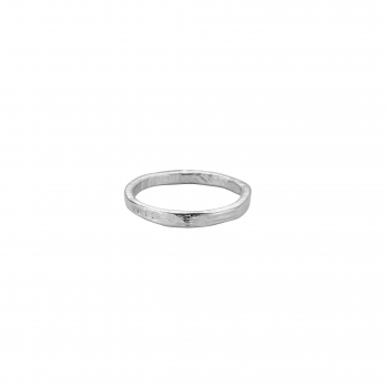 Ladies Silver Mini Posey Ring