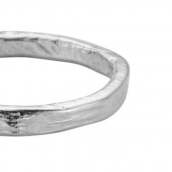 Ladies Silver Posey Ring detailed