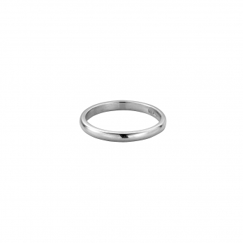 Silver Ladies Arch Wedding Band