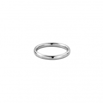 Silver Ladies Oval Band