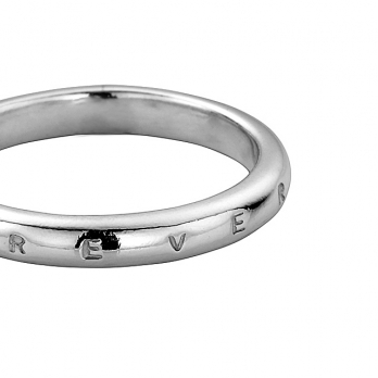 Silver Ladies Oval Wedding Band detailed