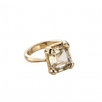 LUANA Gold Yellow Sapphire Claw Ring