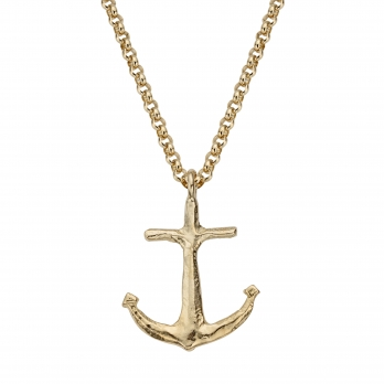 Gold Maxi Anchor Necklace