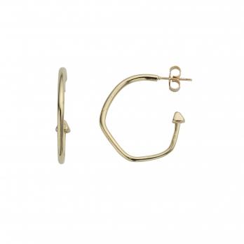 Gold Maxi Cupid Hoop Earrings