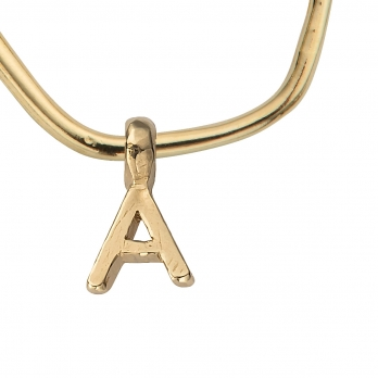 Gold Maxi Cupid Hoops with Alphabet Charms detailed